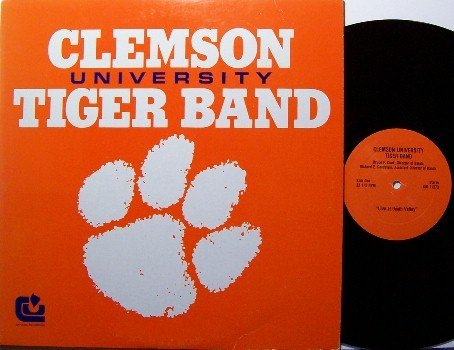 Clemson University Tiger Band - Vinyl LP Record - Football Sports South Carolina Tigers
