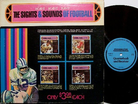 Football, The Sights and Sounds Of - Vinyl LP Record - Teaching Instructional - Sports