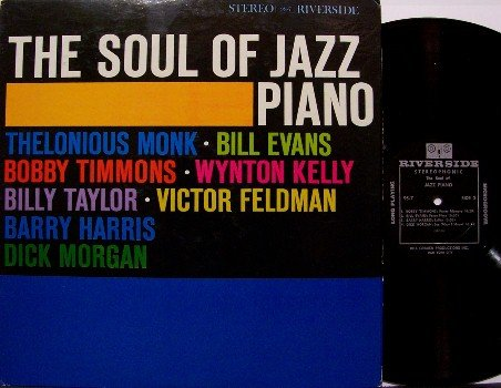 Soul Of Jazz Piano, The - Vinyl LP Record - Riverside - Thelonious Monk, Bill Evans, etc