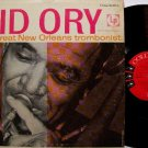 Kid Ory - The Great New Orleans Trombonist - Vinyl LP Record - Mono 6 Eye Label - Jazz