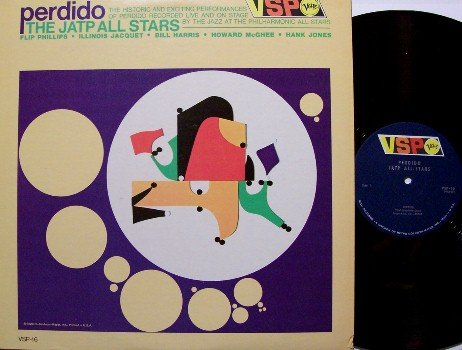 J A T P All Stars - Perdido - Vinyl LP Record - Verve Mono - Illinois Jacquet, Jo Jones, etc - Jazz