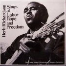 Richardson, Herb - Sings Of Labor, Hope & Freedom - Sealed Vinyl LP Record - Oppression Folk Blues
