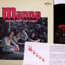 Manna - Reach For The Light - Vinyl LP Record + Insert - 70's Xian Folk Rock