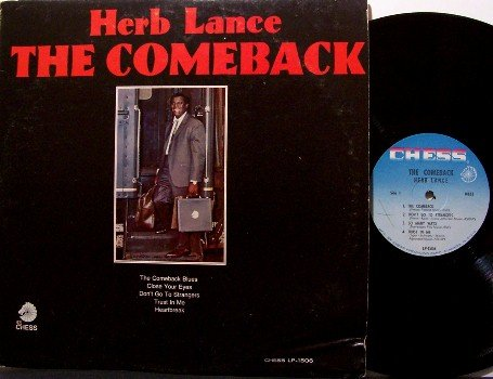 Lance, Herb - The Comeback - Vinyl LP Record - Chess Label - Mono - Chicago Blues
