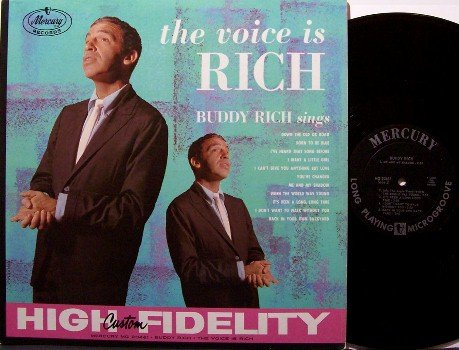 Rich, Buddy - The Voice Is Rich - Vinyl LP Record - Original 1959 Mono Pressing - Jazz