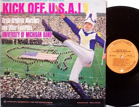 University Of Michigan - Kick Off U.S.A. - Vinyl LP Record - U Of M Football - College Sports