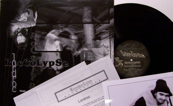 "Lordroc - 12"" Vinyl Record + Inserts - Roccolypse / The Bullet - 7 Mixes - New York Hip Hop"