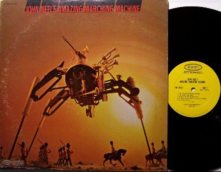 Neel, John - Amazing Marching Machine - Vinyl LP Record - Promo Stamp - Odd Unusual Weird Rock