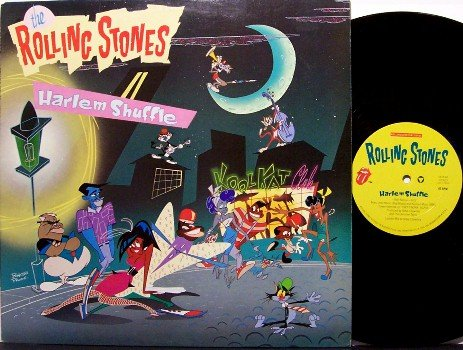 "Rolling Stones, The - Harlem Shuffle - 12"" LP Record - 2 Mixes - Promo - Rock"