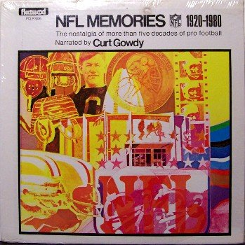 N F L Memories Narrated By Curt Gowdy - Sealed Vinyl LP Record - Fleetwood - NFL Football Sports