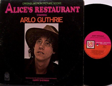 Alice's Restaurant - Soundtrack - Vinyl LP Record - Arlo Guthrie - Folk - OST