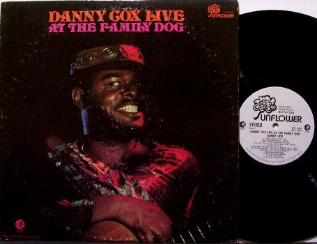 Cox, Danny - Live At The Family Dog - Vinyl LP Record - White Label Promo - Blues / R&B