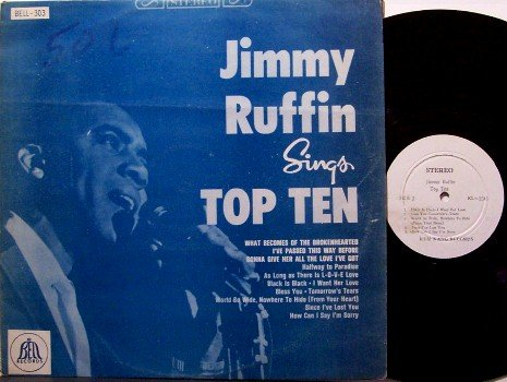 Ruffin, Jimmy - Sings Top Ten - 10 - Vinyl LP Record - R&B Soul - Korean Pressing