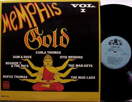 Memphis Gold - Stax Various Artists - Vinyl LP Record - 1966 Mono - R&B Soul
