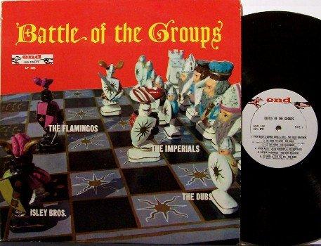 Battle Of The Groups - Vinyl LP Record - 1960 End R&B Soul Doo Wop - The Dubs, Flamingos, etc