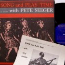 Seeger, Pete - Song And Play Time - Vinyl LP Record - with Insert - 1963 Folkways - Folk
