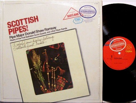 Scottish Pipes - Vinyl LP Record - Bagpipes - Military