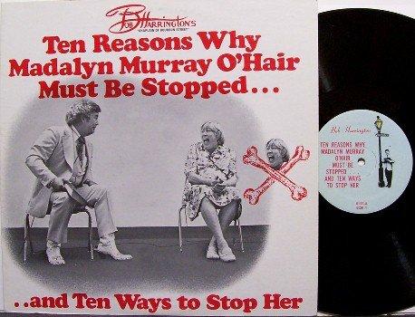 Harrington, Bob and Madalyn Murray O'Hair - Chaplain vs. Athiest - Vinyl LP Record - Weird Unusual