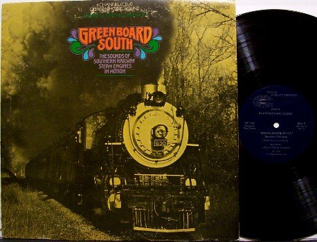 Greenboard South - Steam Engine Railroad Train Sounds - Quad - MFSL - Vinyl LP Record