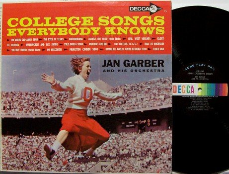 Garber, Jan - College Songs Everybody Knows - Vinyl LP Record - Mono - Sports Weird Unusual