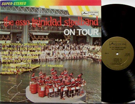 Esso Trinidad Steel Band - On Tour - Vinyl LP Record - Kettle Drum - World