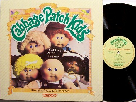 Cabbage Patch Kids - Dreams - Vinyl LP Record - Original Parker Brothers Pressing - Children Kids