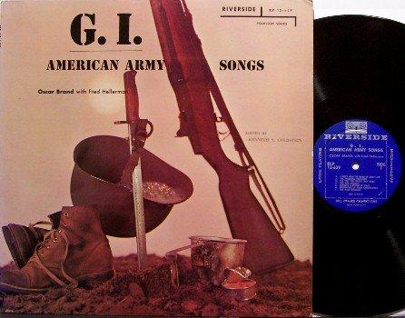 Brand, Oscar - G.I. American Army Songs - Vinyl LP Record - GI - Military