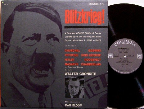 Blitzkrieg - Vinyl LP Record - World War 2 - Mono - Military Hitler ww ii Weird Unusual