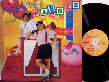 Warnke, Mike & Rose - Growing Up - Vinyl LP Record - 1983 Comedy Christian