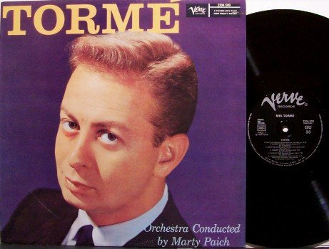 Torme, Mel - Torme - Vinyl LP Record - Marty Paich / Frank Rosolino - French Verve Jazz