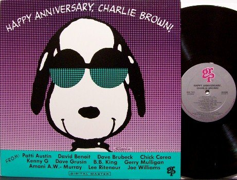 Brown, Charlie Happy Anniversary - Vinyl LP Record - Charles Schulz Art - GRP Jazz