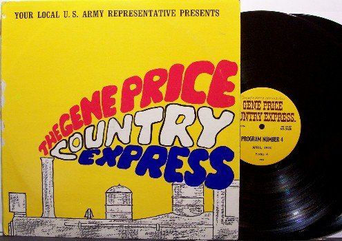 Price, Gene Country Express - US Army Radio Show - April 1974 - Vinyl 2 LP Record Set
