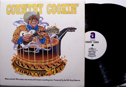 Country Cookin' - US Army Radio Show - Vinyl 2 LP Record Set - 1974 shows #153-156