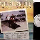 Coe, David Allan - Family Album - Vinyl LP Record - White Label Promo - Country