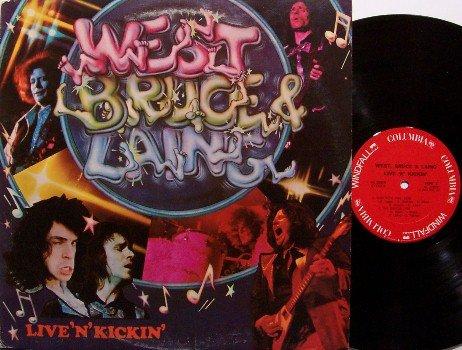 West Bruce & Laing - Live'N'Kickin' - Vinyl LP Record - Leslie Jack Corky - Mountain - Rock