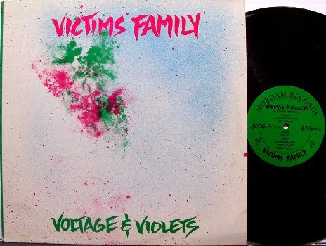 Victim's Family - Voltage & Violets - Vinyl LP Record + Insert - Victims - Punk Rock