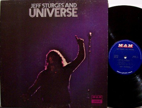Sturges, Jeff and Universe - Self Titled - Vinyl LP Record - Rock