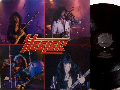 Steeler - Self Titled - Vinyl LP Record - Shrapnel Label - Yngwie Malmsteen - Metal Rock