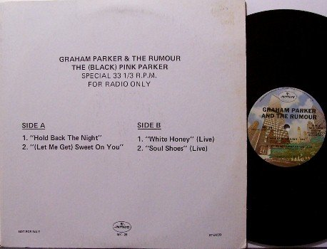 "Parker, Graham & The Rumour - Black Pink Panther - Radio Promo Only Vinyl 12"" Mini LP Record - Rock"