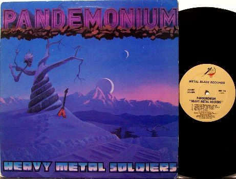 Pandemonium - Heavy Metal Soldiers - Vinyl LP Record + Insert - Metal Blade Rock