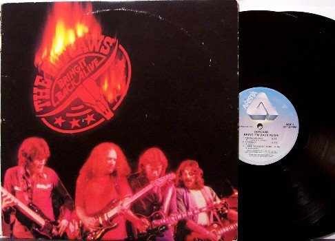 Outlaws, The - Bring It Back Alive - Vinyl 2 LP Record Set - Live Concert - Southern Rock