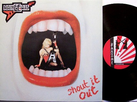 Maineeaxe - Shout It Out - Canadian Heavy Metal - Vinyl LP Record - Main EE Axe - Rock