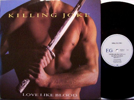 "Killing Joke - Love Like Blood - 3 Mixes - Import 12"" Vinyl Single Record - Rock"