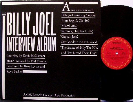 Joel, Billy - The Billy Joel Interview Album - Promo Only - Vinyl LP Record - Rock
