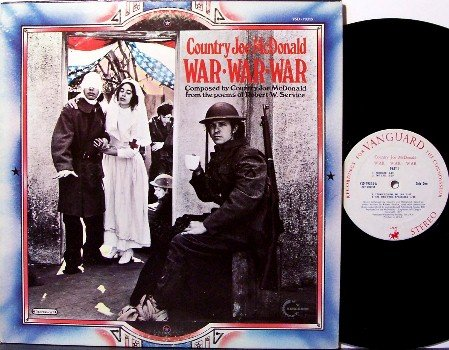 Country Joe McDonald - War War War - Vinyl LP Record - Mc Donald - Rock