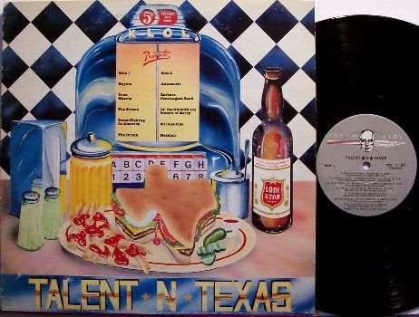 Talent N Texas - Private 1981 Texas Rock Band Compilation - KLOL Radio - Vinyl LP Record