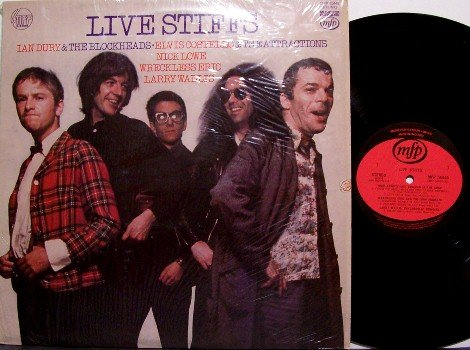 Live Stiffs - Vinyl LP Record - UK Pressing - Ian Dury, Elvis Costello, etc - Punk Rock