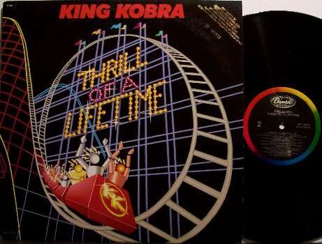 King Kobra - Thrill Of A Lifetime - Vinyl LP Record - Cobra - Carmine Appice - Rock
