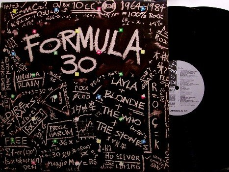 Formula 30 - Vinyl 2 LP Record Set - UK Pressing - Rolling Stones, Clapton, Procol Harum, etc - Rock