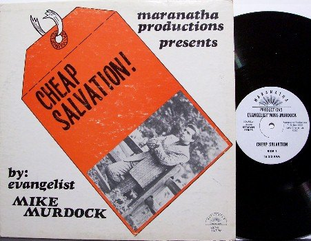 Murdock, Mike - Cheap Salvation - Vinyl LP Record - Great Cover - Unusual Christian